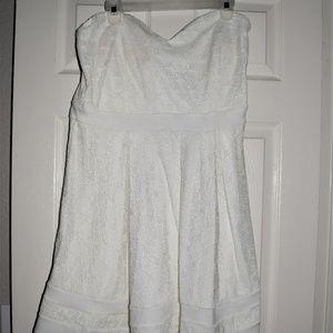 Trac Cute White Strapless Dress 2X